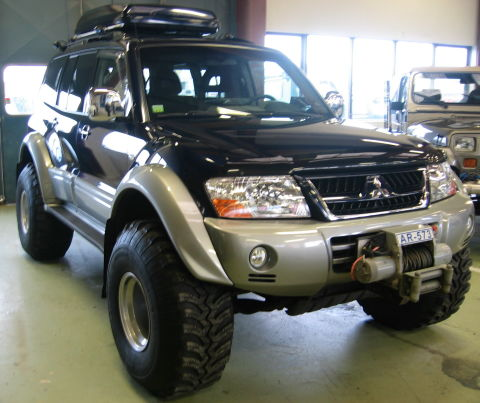 4x4 Mitsubishi Pajero is a popular type of SUV in Iceland.