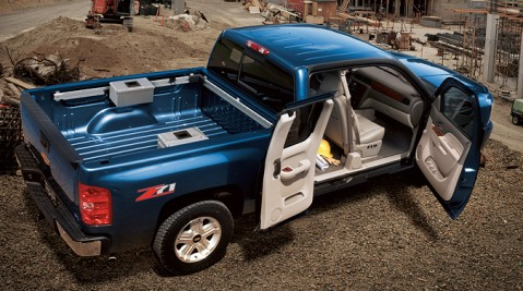 chevy hybrid pickup truck 4x4 off roads. Black Bedroom Furniture Sets. Home Design Ideas