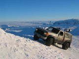 4x4 at the top of Skjaldbreidur