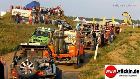 Team WERK1 raced the green diesel and blue petrol Suzuki Jimny against other higher horsepower rigs.