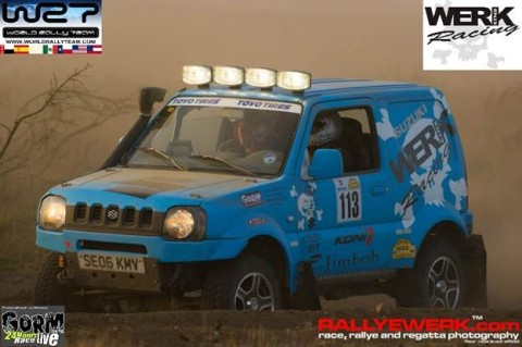 Ponce and Alex Worin starting off the race in the dusty Brown Hell, the Nurburgring of Off Road.