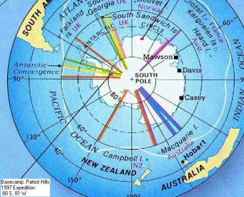 South Pole World Record - Map of the South Pole