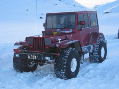 Old Jeep Willys with modifications