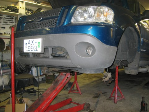 Custom Sport Trac - Preparing The Front Driveline