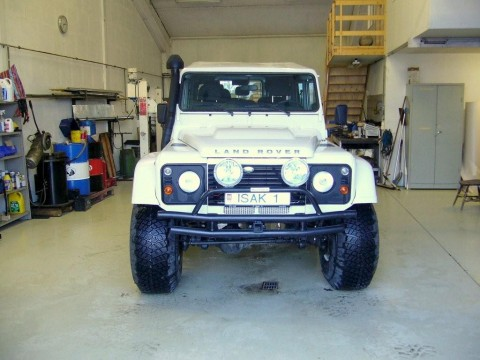 Modified Land Rover Defenders