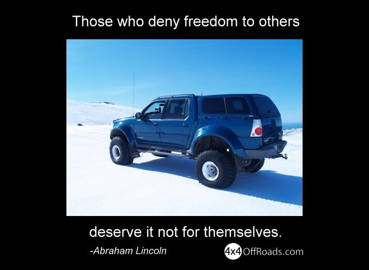More Offroading Freedom