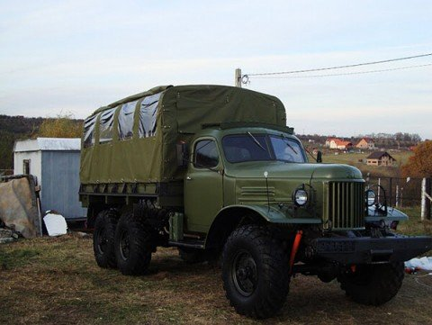 Old Russian Army Truck - ZIL 157